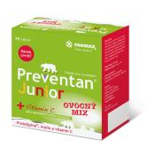 Preventan Junior + vitamín C ovocný mix 30 tbl