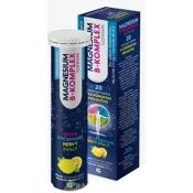 GLENMARK Magnesium B-Komplex šumivé tablety s citrónovou príchuťou 20 ks