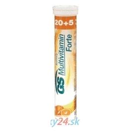 GS Multivitamín šumivý FORTE pomaranč 20+5 tbl