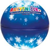 RAKYTNÍČEK+ želatínky vianočná guľa modrá 50 ks