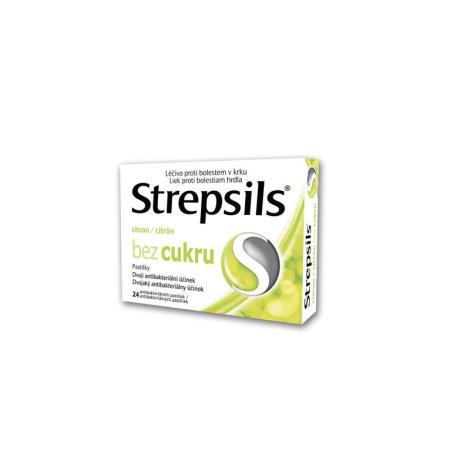 STREPSILS Citrón bez cukru 24 past