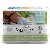 Moltex Pure & Nature 1 detské prírodné plienky Newborn 2-4 kg 22 ks