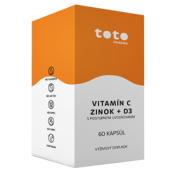 TOTO VITAMÍN C + ZINOK + D3 cps (s postupným uvoľňovaním) 60 ks
