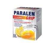 Paralen Grip horúci nápoj Novum citrón 500 mg/10 mg 12 sáčkov