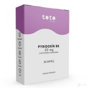 TOTO Pyridoxín B6 20 mg s postupným uvoľňovaním 30 cps