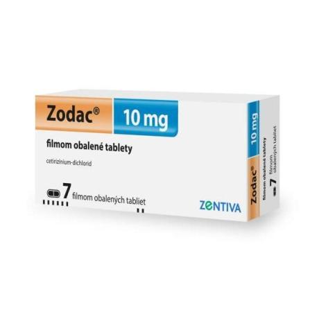 Zodac 10 mg tablety 7 ks