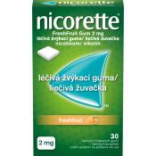 Nicorette FreshFruit Gum 2 mg žuvačky 30 ks