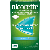 Nicorette IceMint gum 2 mg žuvačky 30 ks