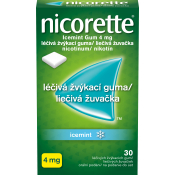 Nicorette IceMint gum 4 mg žuvačky 30 ks