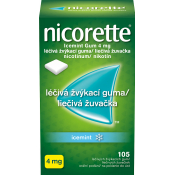Nicorette IceMint gum 4 mg žuvačky 105 ks