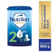 Nutrilon Advanced 2 následná mliečna dojčenská výživa v prášku (6-12 mesiacov) 6x800 g