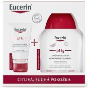 Eucerin pH5  krém na ruky 75 ml + umývacia emulzia na ruky 250 ml  Vianočná kazeta 1set