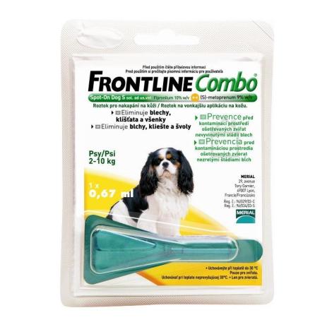 FRONTLINE COMBO Spot pre psy S 2-10 kg