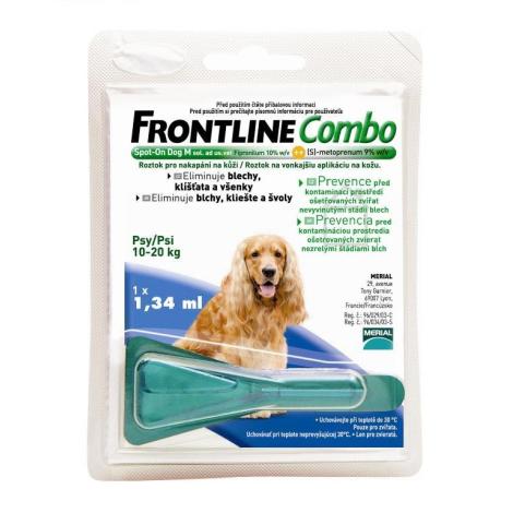FRONTLINE COMBO Spot pre psy M 10-20 kg