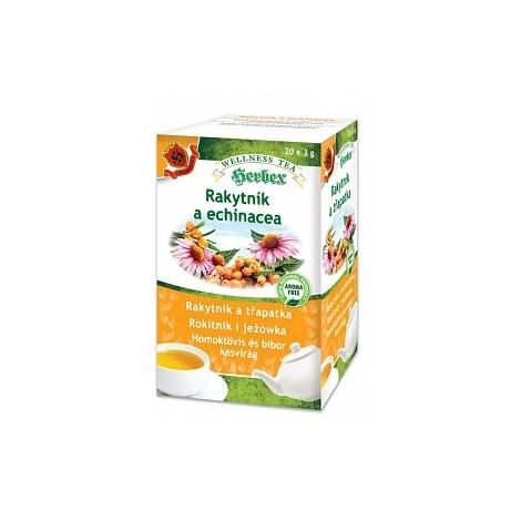Herbex rakytník a echinacea porciovaný čaj 20x3g