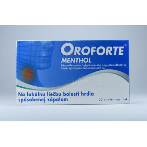 Oroforte menthol