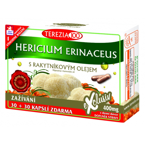 Terezia Company Hericium Erinaceus s rakytníkovým olejom 30+30 cps