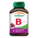 Jamieson B-komplex 25 mg tablety na cmúľanie s príchuťou lesných plodov 90 tbl