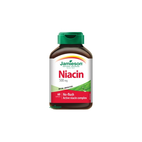 Jamieson Niacín 500 mg s inozitolom 60 tbl