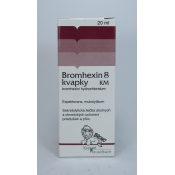Bromhexin 8 kvapky KM 20ml