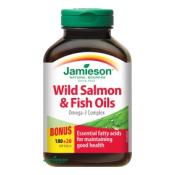Jamieson Salmon Omega-3 komplex z lososa a rybích olejov 180 + 20 cps