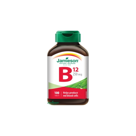 Jamieson Vitamín B12 metylkobalamín 250 mcg 100 tbl