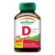 Jamieson Vitamín D3 1000 IU 150 + 30 cps ZDARMA