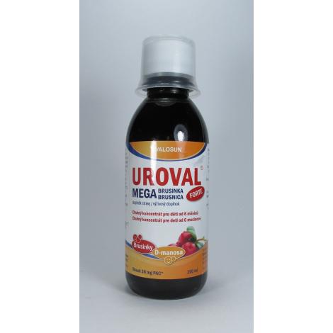 Valosun UROVAL Megabrusnica FORTE sirup 200 ml