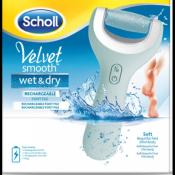 Scholl Velvet smooth Wet&Dry elektrický pilník na chodidlá do vody