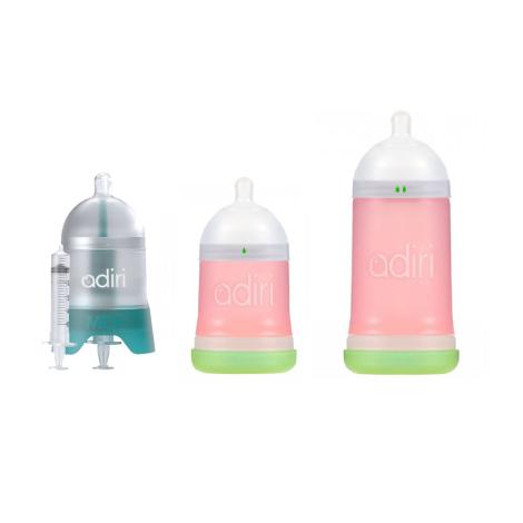 Adiri dojčenská fľaša - štartovací balík ružový