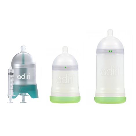 Adiri dojčenská fľaša - štartovací balík biely