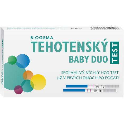 Biogema Tehotenský test Baby test prúžkový duo 2ks