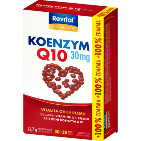 Revital Koenzým Q10 30 mg 30 + 30 cps ZDARMA