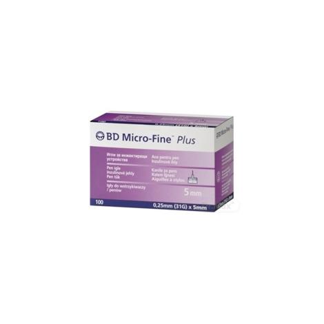 BD MICRO FINE PLUS inzulínové ihly do aplikátorov inzulínu 31G (0,25 x 5 mm) 100 ks