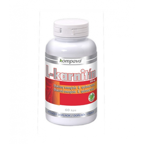 KOMPAVA L-karnitín 500 mg 90 cps