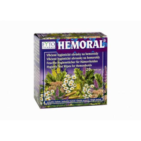 Fytopharma Hemoral vlhčené obrúsky na hemoroidy 20ks
