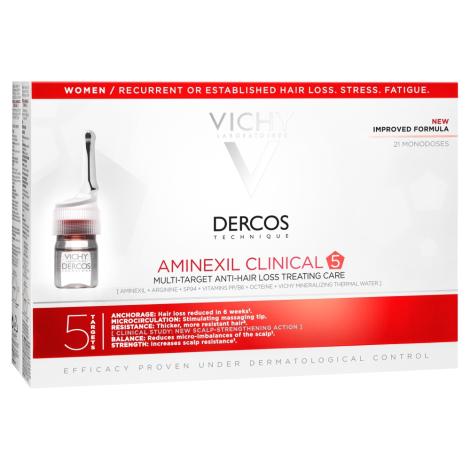Vichy Dercos Aminexil clinical 5 viacúčelová kúra proti vypadávaniu vlasov pre ženy 21 x 6 ml - Vichy - T03326