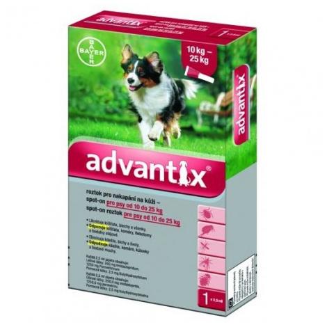 Advantix Spot On pre psy 10-25kg 4x2,5 ml