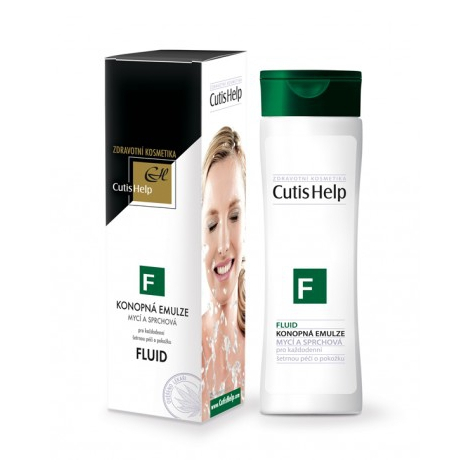 CutisHelp FLUID Konopná umývacia a sprchová emulzia 200 ml