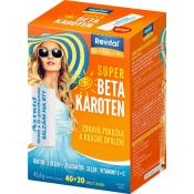 Revital Super Beta- karoten 40 + 20 tabliet ZDARMA + vodeodolné opaľovacie mlieko OF 50