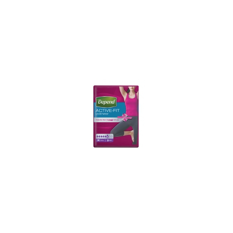 Depend Active-Fit M pre ženy inkontinenčné nohavičky 8 ks