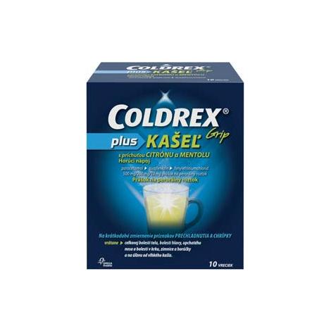 COLDREX Grip plus KAŠEĽ príchuť citrón a mentol 10 vreciek - OMEGA PHARMA a.s. - 7454B