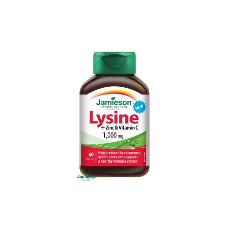 Jamieson Lyzín 1000 mg so zinkom a vitamínom C 60 tbl