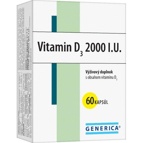 Generica Vitamin D3 2000 I.U. 60 cps