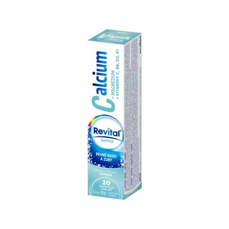 Revital Calcium+ Magnézium + vitamíny C, B6, D3, K1 20 šumivých tabliet citrón