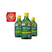 Mollers Omega 3 rybí olej 250 ml citrónová príchuť