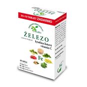 Herbvitea Železo, kyselina listová a vitamín C 40 tbl